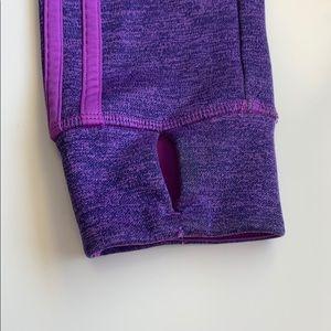 adidas Jackets & Coats - Purple barely worn adidas zip up hooded jacket
